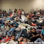 Overflowing: Lackland Air Base illegal alien induction facility. Click to enlarge