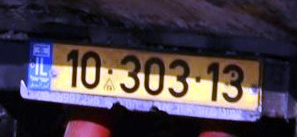 Palestinian and Jewish-owned vehicle registration plates