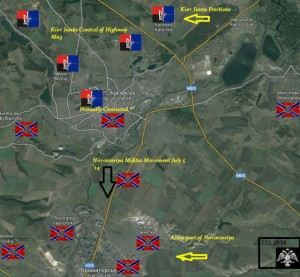 Slavyansk battle. Click to enlarge
