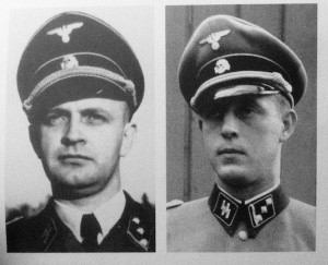 The Hitler Book was prepared for Stalin in 1946 and is based on the testimony  of Hitler's personal adjutants, SS Officers Heinz Linge, left, and Otto Gunsche, right. Click to enlarge