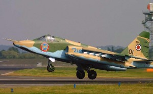The Israeli-modified SU-25KM is produced by Elbit of Israel and TAM, the original maker of the SU-25. Click to enlarge