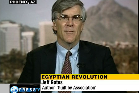 Jeff Gates of Tempe, Arizona, is the author of Guilt by Association: How Deception and Self-Deceit took America to War (published before the 2008 election), in which he warned Americans of the treasonous candidate from Arizona. Gates was counsel to the U.S. Senate Committee on Finance (1980-1987).