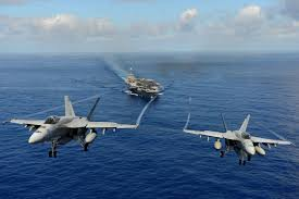 Two U.S. Navy F-18 fighter jets were used to strike at Islamic State militants in Iraq.