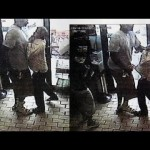 Still from CCTV footage of Michael Brown threatening store owner. Click to enlarge, video linked below