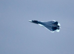 Sukhoi T-50 fifth generation multirole fighter. Click to enlarge