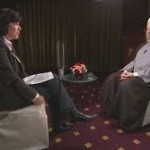 CNN's Amanpour interviews President Rouhani. Click to enlarge
