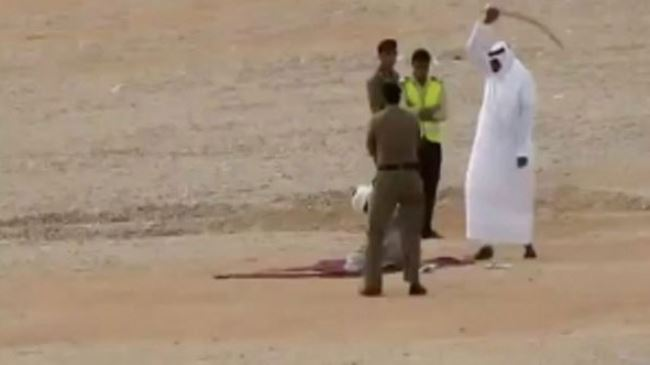 Beheading in Saudi Arabia. Click to enlarge