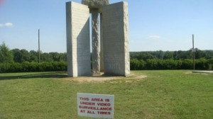 The inscriptions on the mysterious Georgia Guidestones also allude to a massive reduction in the world population.