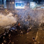 Police Unleash Tear Gas in Hong Kong Protests