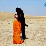 Still from the SITE video of Steven Sotloff's beheading by ISIS, allegedly. Click to enlarge