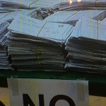 Yes votes in No pile at Scottish referendum. Click to enlarge