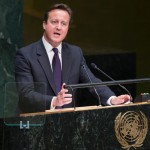David Cameron delivers his UN speech. Click to enlarge