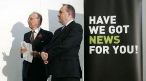 Rupert Murdoch (left) and Alex Salmond. Click to enlarge