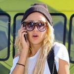 Amanda Bynes outside LAX on Friday Oct 10
