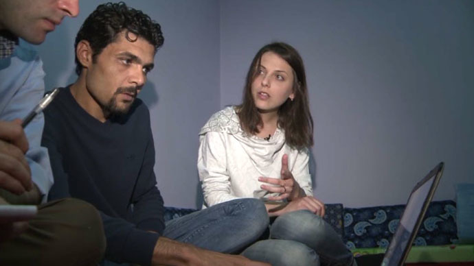 Bazran Halil, a Kurdish rights activist and journalist, and his wife Raushan