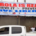 Ebola banners in Liberia. Click to enlarge