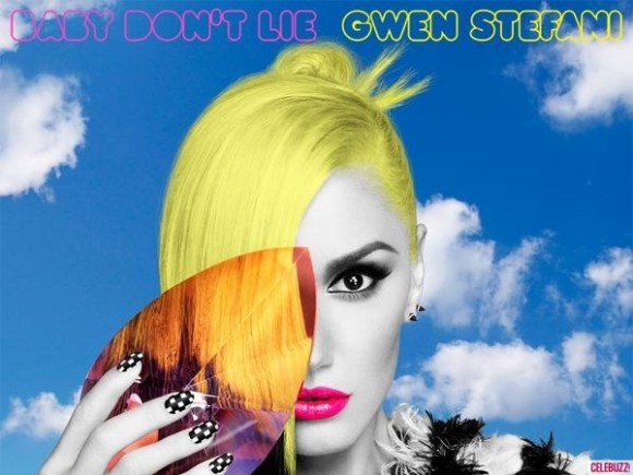 Gwen Stefani is trying to make a comeback and stay relevant in the music business. This means doing the one-eye sign on her single cover.