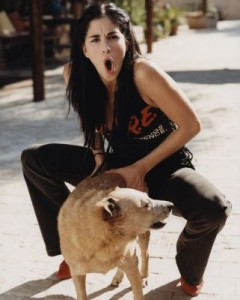 Sarah Silverman humping a dog