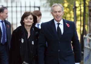 Tony Blair and wife Cherie. Click to enlarge