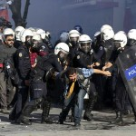 Turkish police disperse protesters in Ankara in October, 2014. Click to enlarge
