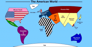 How America sees the world. Click to enlarge