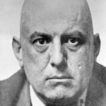 "ALEISTER CROWLEY, ENGLISH SATANIST, ALSO KNOWN AS ""THE GREAT BEAST""."