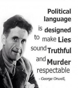 George Orwell quote. Click to enlarge