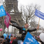 Crowds opposed to the legalisation of gay marriage gather in Paris. Click to enlarge