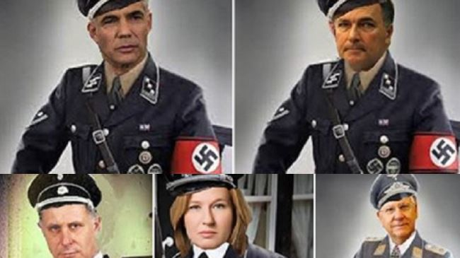 Israeli government officials depicted as Nazis