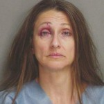 Lydia Salce, 50, on the night of her arrest. Click to enlarge