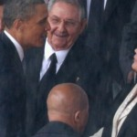 Obama with Raul and Dilma. Click to enlarge