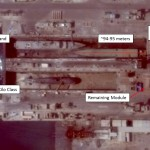 Satellite imagery from Sept 2014 shows construction activity at Iran's Bandar Abbas naval base. Click to enlarge