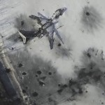 Drone footage shows devastation at Donetsk airport