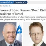 The Guardian Proclaims The President of Israel as a Hero of 2014