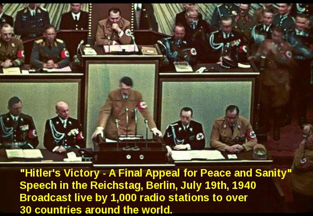 Hitlersfinal appeal for peace July- 9th, 1940.