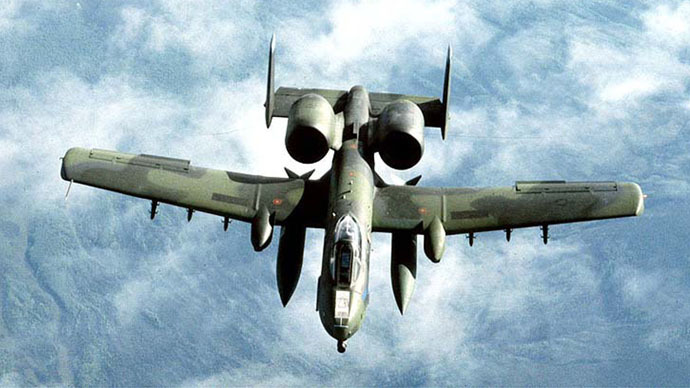A-10 Thunderbolt, otherwise known as the 'Warthog'. Click to enlarge