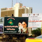 A billboard depicting the late Iranian Ayatollah in central Baghdad. Click to enlarge