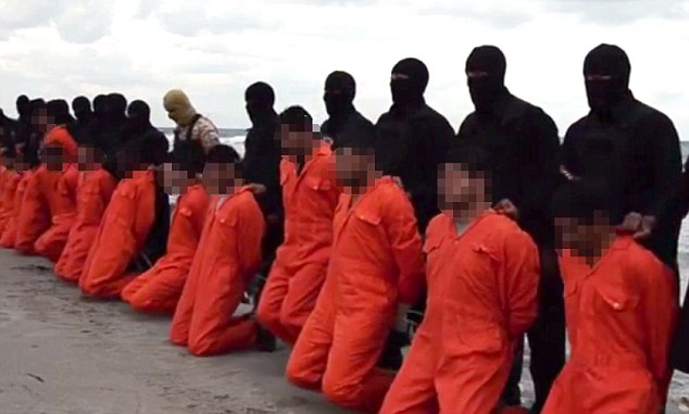 A new video released by ISIS allegedly shows the beheading of 21 Egyptians. Click to enlarge