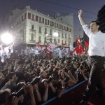 Greece Syriza supporters celebrate. Click to enlarge