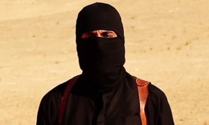 A screengrab of the man named as Mohammad Emwazi from one of the Isis propaganda videos. Photograph: Guardian screengrab