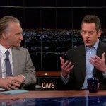 Pictured are pro-Zionist 'New Atheists' Bill Maher and Sam Harris on an episode of Real Time.(Image: Courtesy Non-Aligned Media)