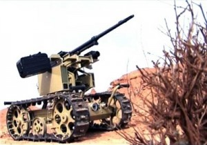 Armed Iranian robot. Click to enlarge