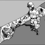 It was Israel's policies that guaranteed that the sleeping giant would not die in its sleep. (Latuff) Click to enlarge