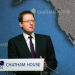 Jonathan Freedland, the Guardian's opinion editor, is an apologist for ethnic cleansing. And note he is giving his speech at Chatham House: the Royal Institute of International Affairs, a globalist think tank. Click to enlarge