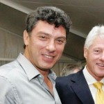 """Birds of a feather ..."": Boris Nemtsov and Bill Clinton. Click to enlarge"
