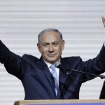 Victorious Netanyahu. click to enlarge