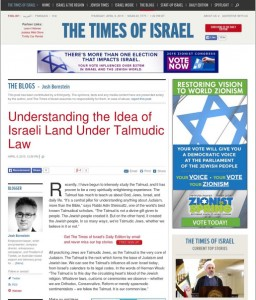 The article as it appeared in the Times of Israel. Click to enlarge