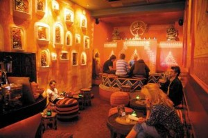 It is legal to smoke cannabis in Amsterdam coffee shops like this one. Click to enlarge