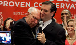 Sen. Ted Cruz with his Commie father turned evangelist, Rafael Cruz