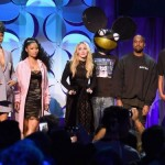 The awkward, star-studded conference promoting Tidal. You can see the enthusiasm in their eyes.